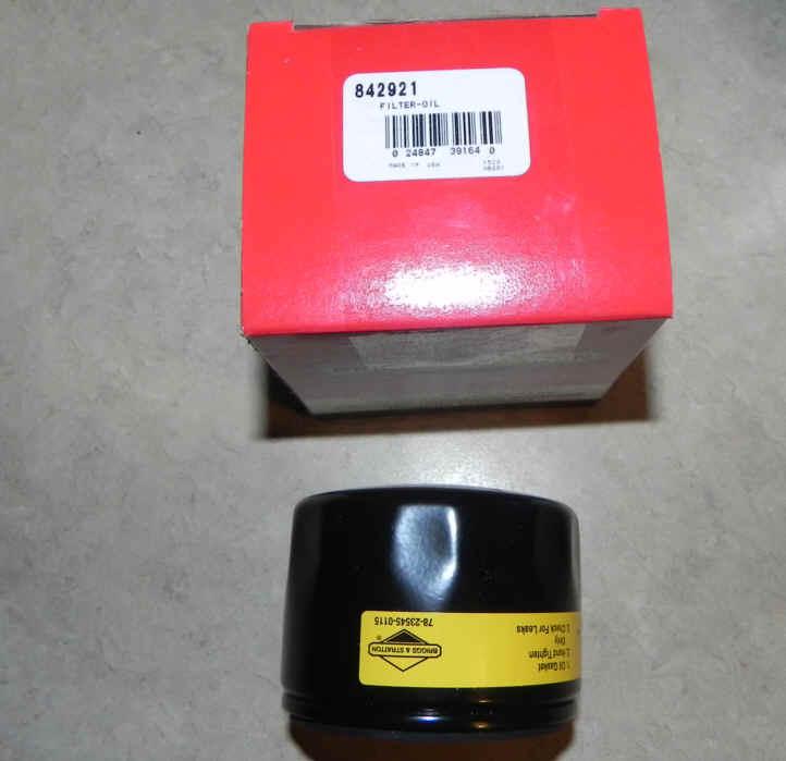 Briggs & Stratton Oil Filters Part No. 842921