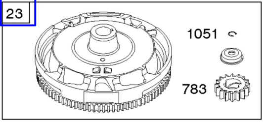 Briggs Stratton Flywheel Part No. 591758