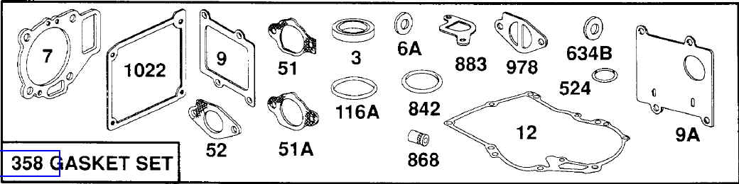 Briggs Stratton Gasket Set Part No. 495260