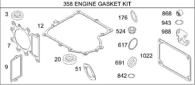 Briggs Stratton Gasket Set Part No. 495993
