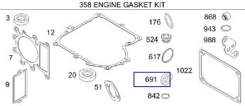 Briggs Stratton Gasket Set Part No. 691580