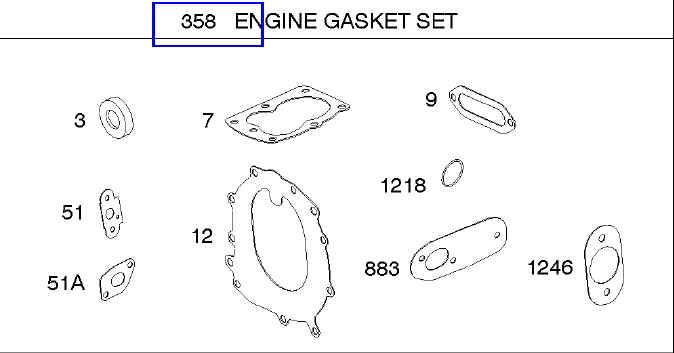 Briggs Stratton Gasket Set Part No. 697010