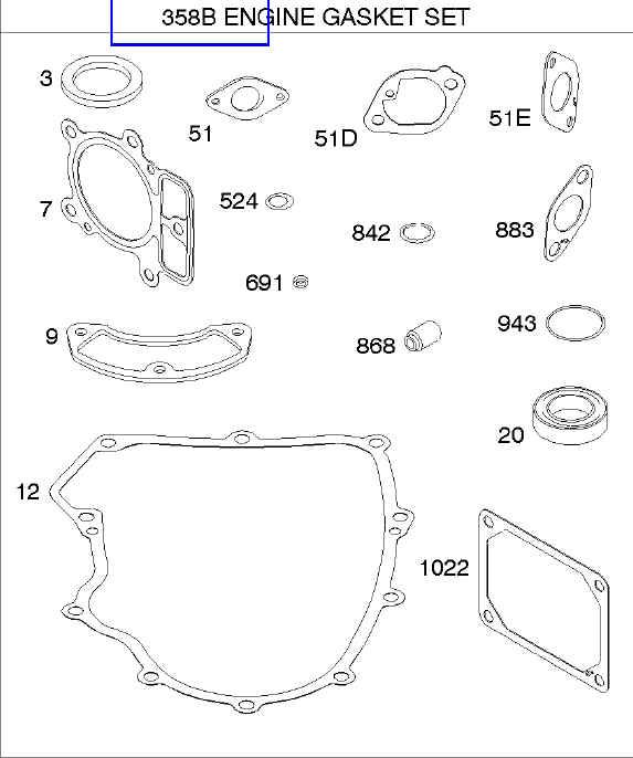 Briggs Stratton Gasket Set Part No. 699823