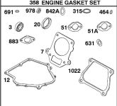 Briggs Stratton Gasket Set Part No. 715124