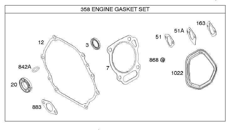 Briggs Stratton Gasket Set Part No. 799952