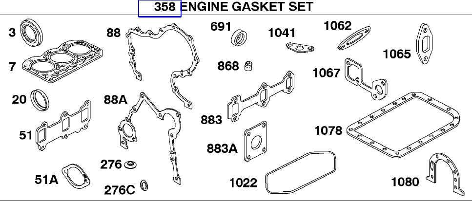 Briggs Stratton Gasket Set Part No. 825756 FKA 825378