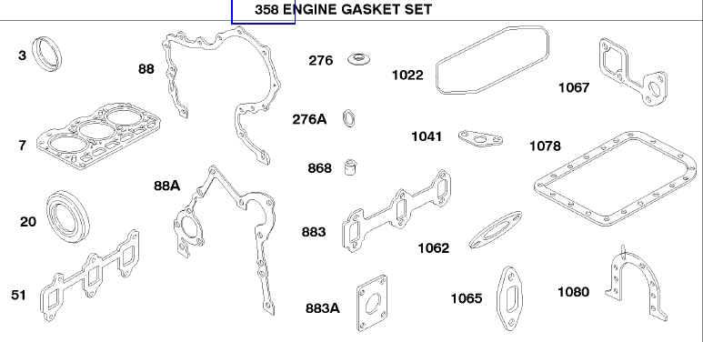 Briggs Stratton Gasket Set Part No. 825757 FKA 825380