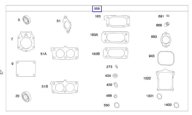 Briggs Stratton Gasket Set Part No. 841122