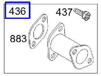 Briggs Stratton Exhaust Manifold Part No. 497140