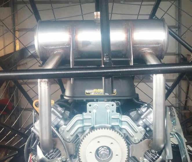 Muffler 846444 mounted on engine