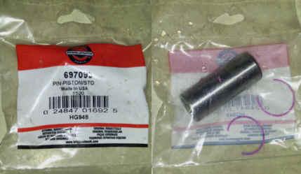 Briggs Stratton Piston Pin Part No. 697099