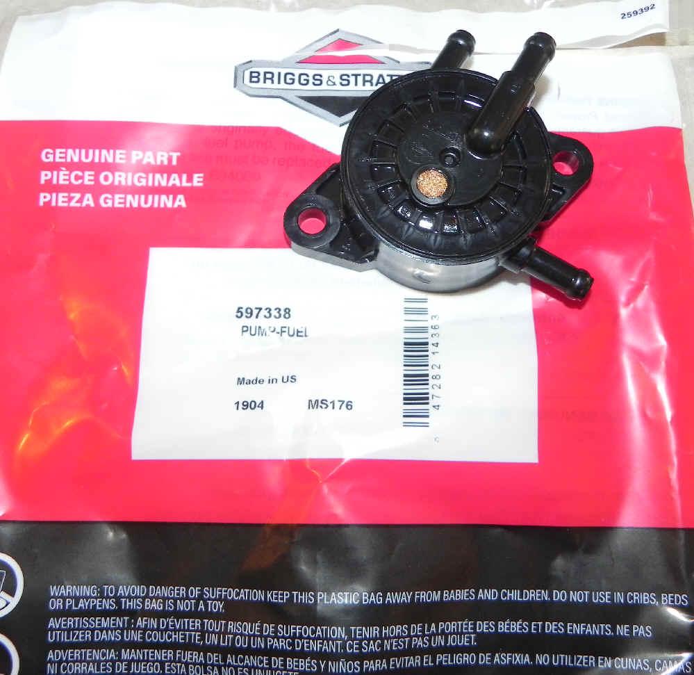 Briggs Stratton Fuel Pump Part No. 597338 fka 808656