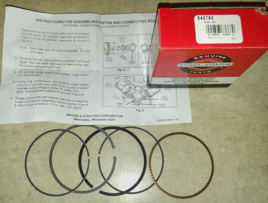 Briggs & Stratton RING SET Part Number 843793