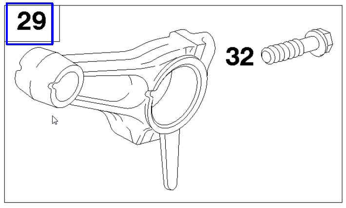Briggs Stratton Connecting Rod Part No. 715106