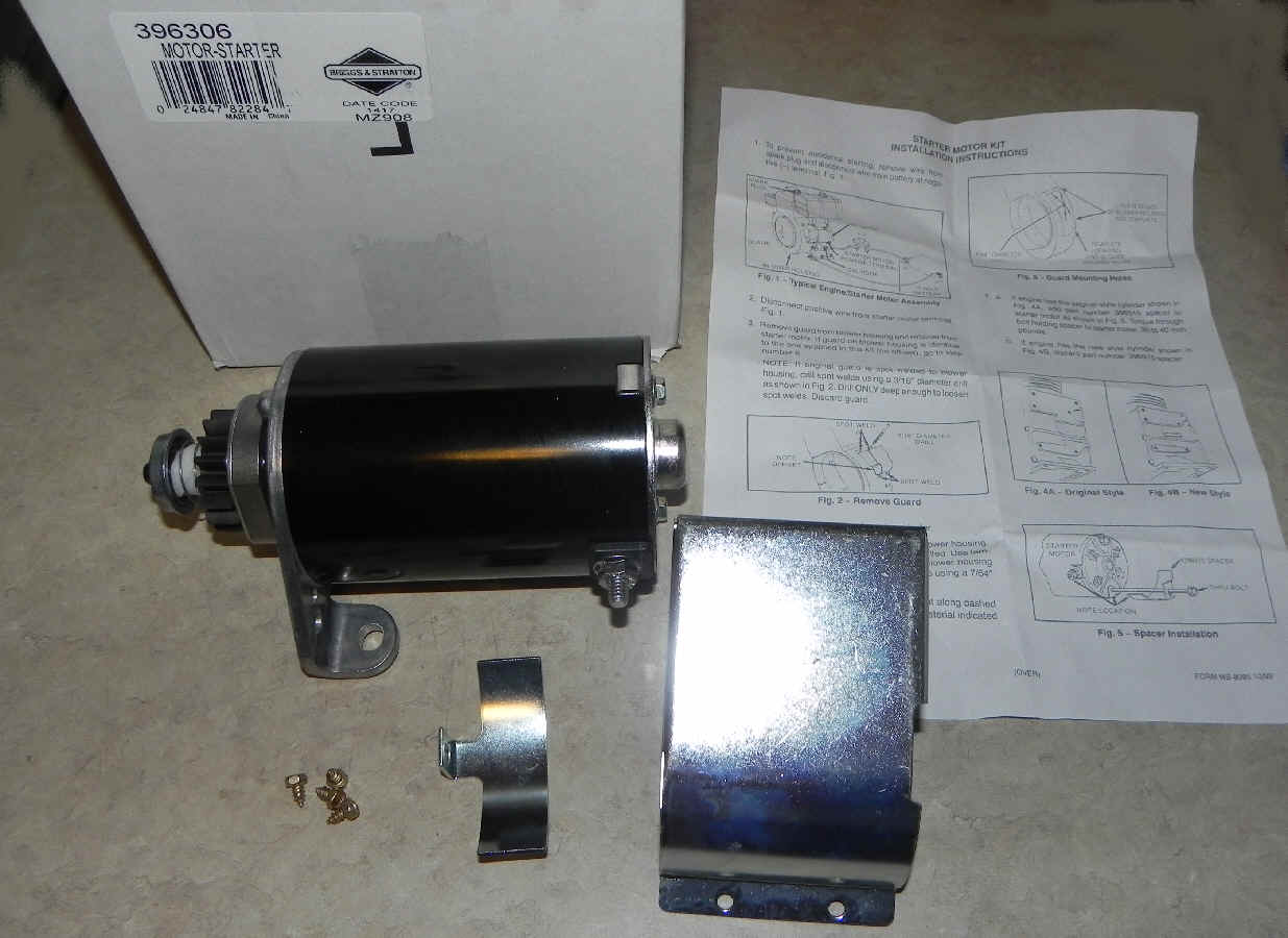 Briggs & Stratton Electric Starter Part No. 396306