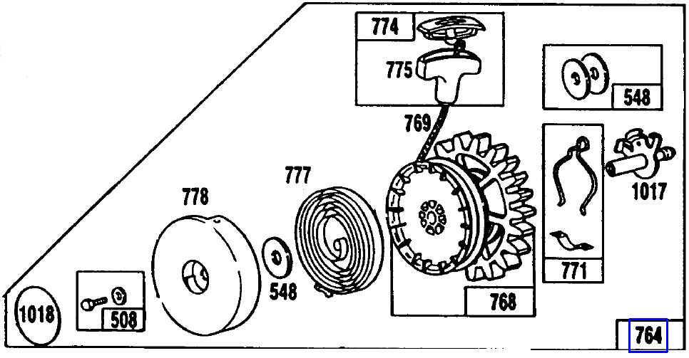 Briggs Rewind Starter Part No 490647