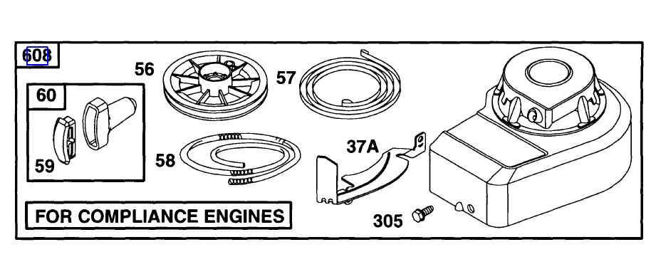 Briggs Rewind Starter Part No 499916
