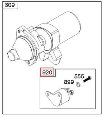 Briggs & Stratton Electric Starter Part No 591780
