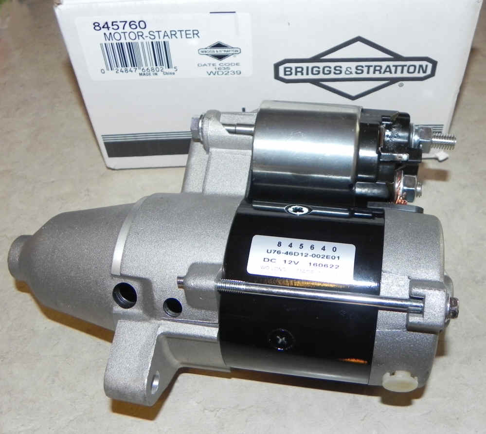 Briggs & Stratton Electric Starter Part No 845760