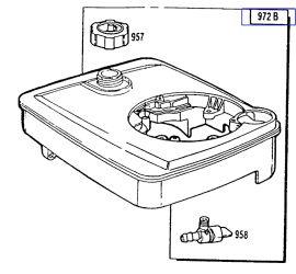 Briggs Stratton Fuel Tank Part No 490809