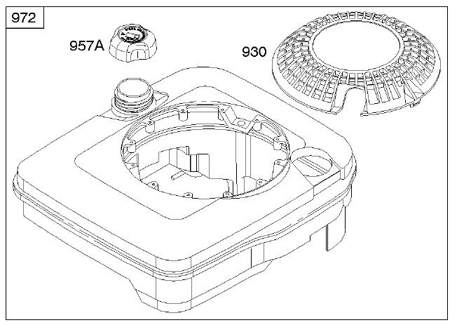 Briggs Stratton Fuel Tank Part No 497218