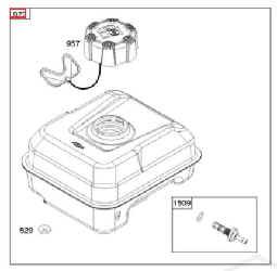 Briggs Stratton Fuel Tank Part No 591025