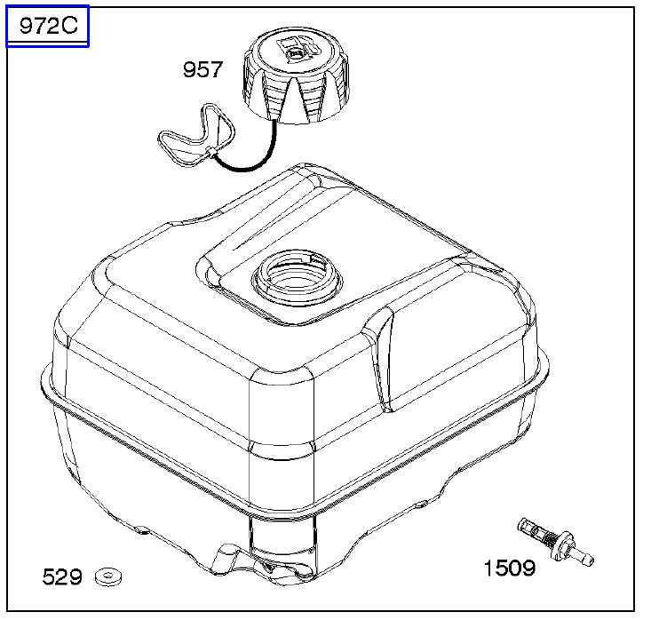 Briggs Stratton Fuel Tank Part No 591339