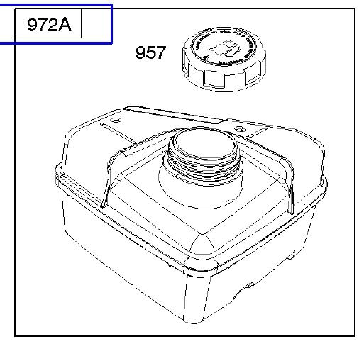 Briggs Stratton Fuel Tank Part No 792664