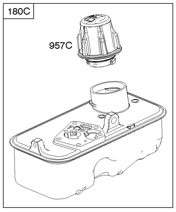Briggs Stratton Fuel Tank Part No 795473