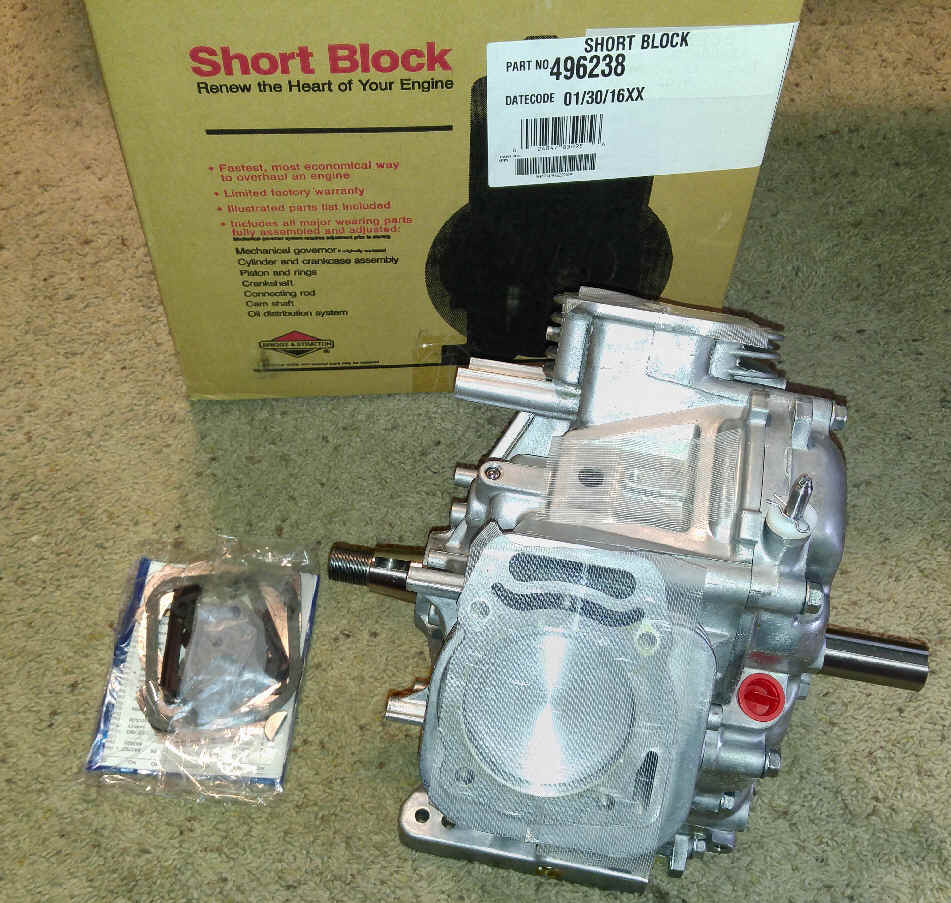 Briggs & Stratton Short Block - Part No. 496238