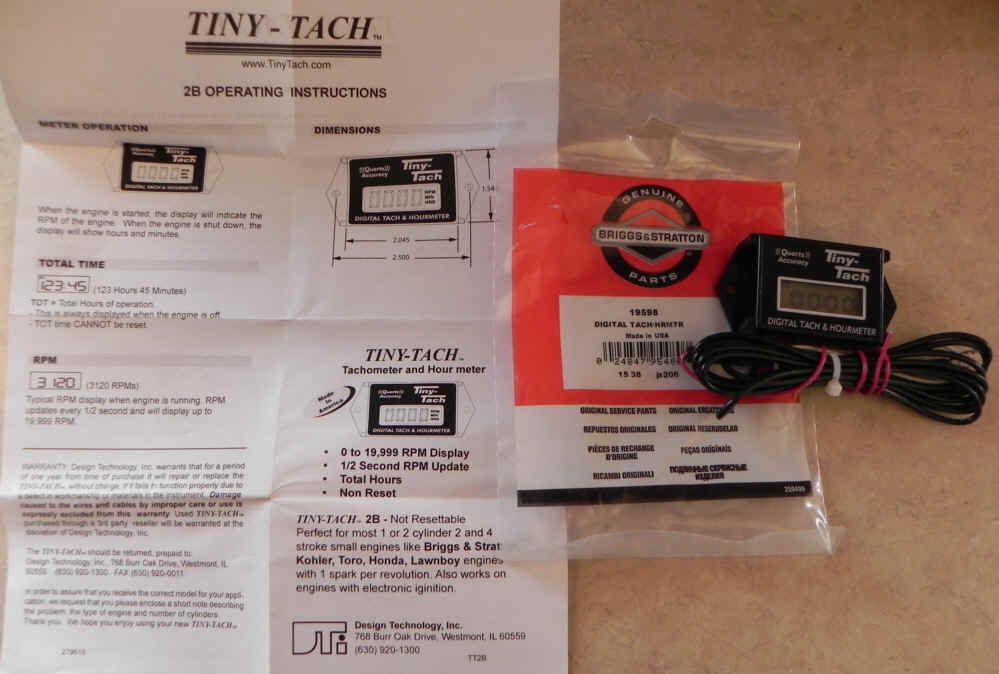 19598 Digital Tachometer & Hourmeter