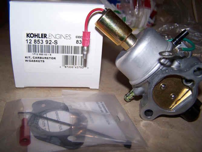 Kohler Carburetor - Part No. 12 853 92-S