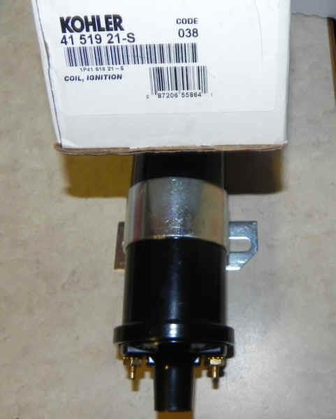 Kohler Ignition Coil Part No. 41 519 21-S