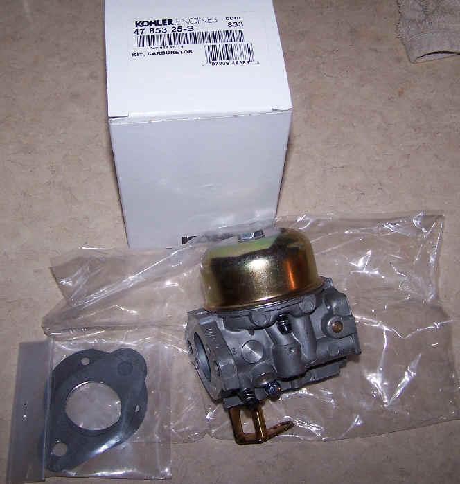 Kohler Carburetor - Part No. 47 853 25-S
