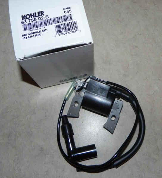 Kohler Ignition Coil Part No. 63 755 02-S