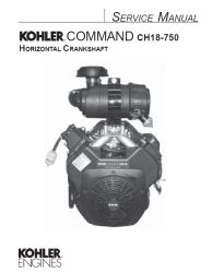 Kohler Service Manual 24 690 06 For CH18-750 Engines