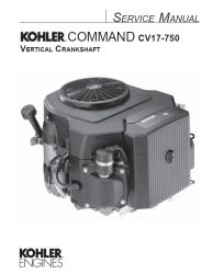 Kohler Service Manual 24 690 07 For CV18-750 Engines