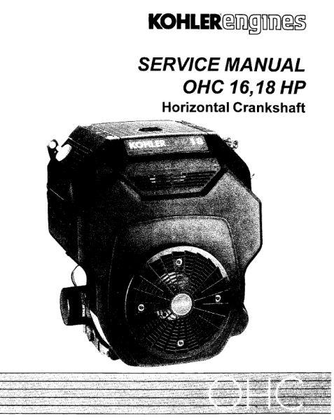 Kohler Service Manual TP-2480 For TH16-18 Engines