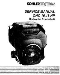 Kohler Service Manual TP-2480 For TH16-18 Engines
