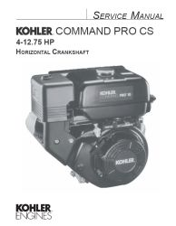 Kohler Service Manual 63 690 01 For CS4-12 Engines