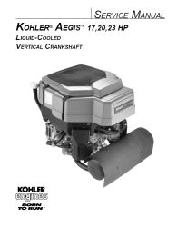 Kohler Service Manual TP-2509 For LV560-675 Engines