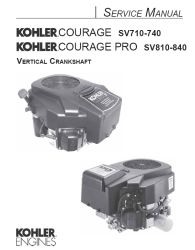 Kohler Service Manual 32 690 01 For SV710-840 Engines