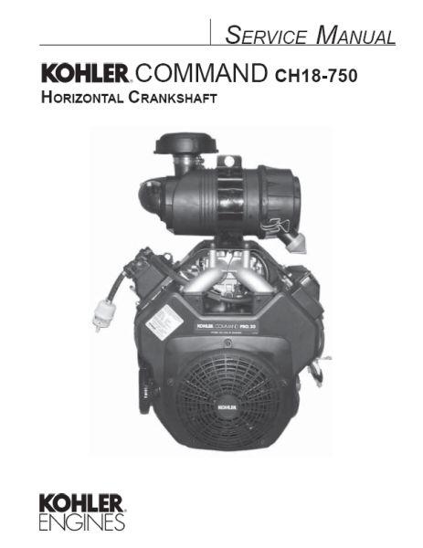Parts manual kohler Engine Ch18 750 Service Manual Pdf
