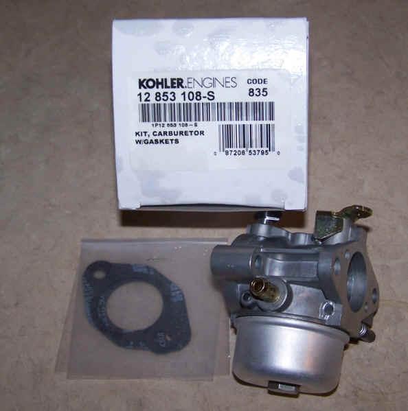 Kohler Carburetor - Part No. 12 853 108-S