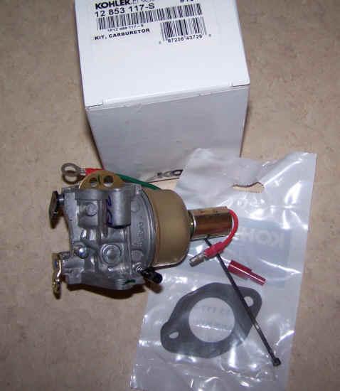 Kohler Carburetor - Part No. 12 853 117-S