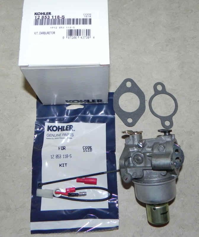 Kohler Carburetor - Part No. 12 853 118-S