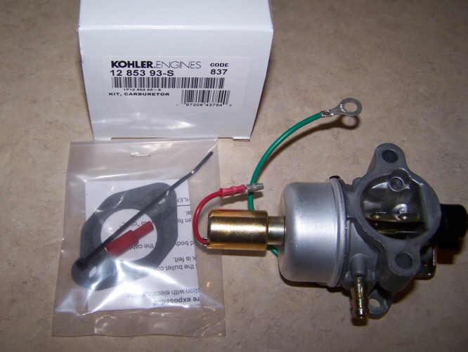 Kohler Carburetor - Part No. 12 853 93-S