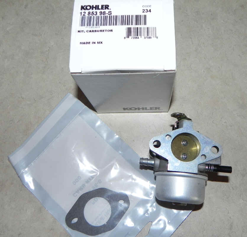 Kohler Carburetor - Part No. 12 853 98-S
