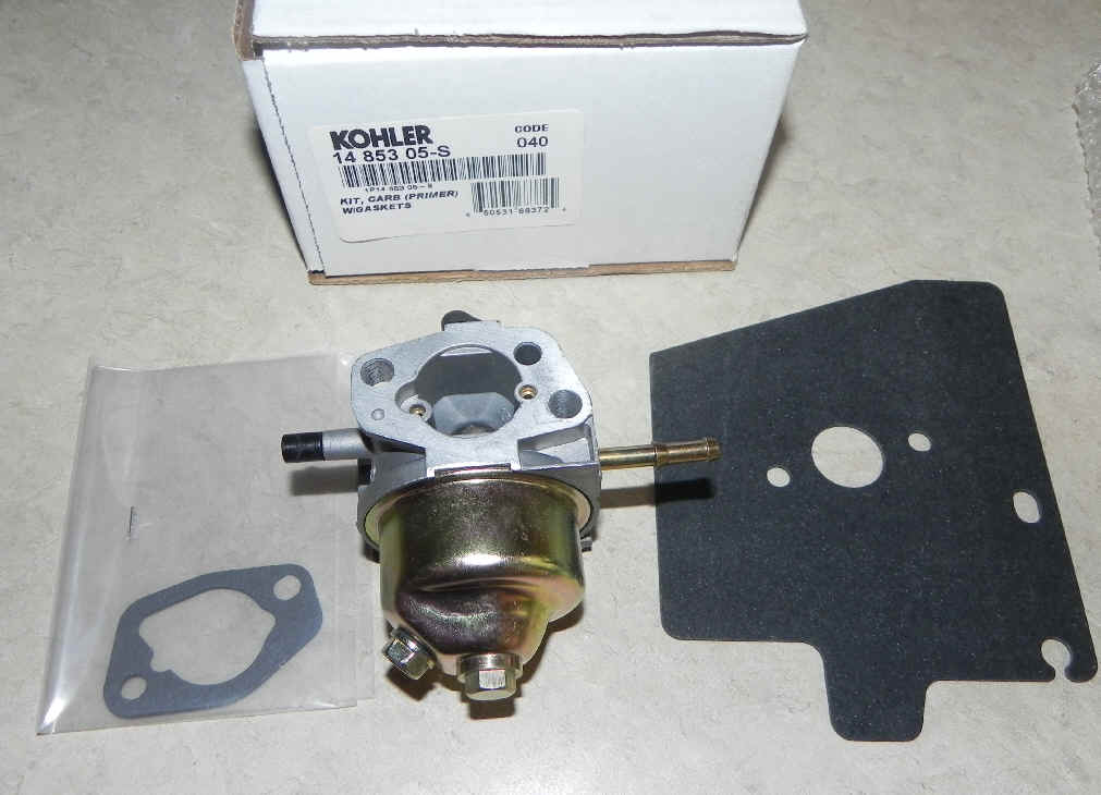 Kohler Carburetor - Part No. 14 853 90-S (Soon to be discontinued)
