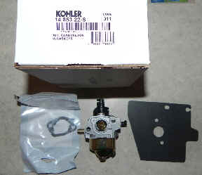 Kohler Carburetor - Part No. 14 853 22-S